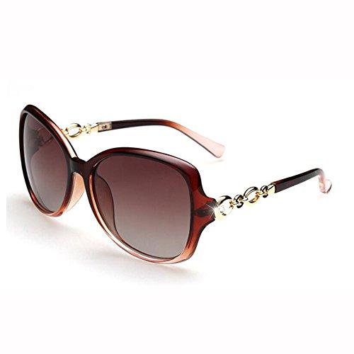 Redonda WX Personalidad Sol Polarizada Gafas Cara Gafas Luz Hembra J Brillante UV Circón J Fortalecimiento Color Anti De Retro xin 1wpxr1qv