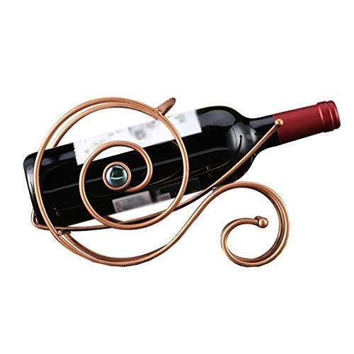 Nosterappou Retro elegante decoración de estante de vino de hierro forjado, proceso de recubrimiento de aleación, diseño...