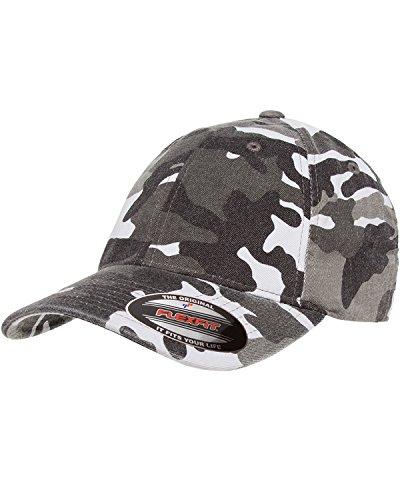 Flexfit mens Cotton Camouflage Cap(6977CA)-SILVER CAMO-S/M ()