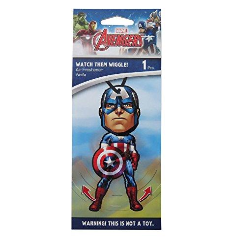 Plasticolor Marvel Captain America Car Accessories - Captain America Air Freshener Wiggler (1)