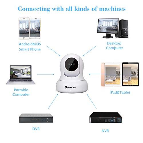 Dericam Home Camera, Pet Camera 1080P@30fps Full HD Real-time Home