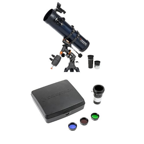 Celestron 31045 AstroMaster 130 EQ Reflector Telescope with Mars Observing Telescope Accessory Kit/Deluxe kits and Eyepiece Filter by Celestron