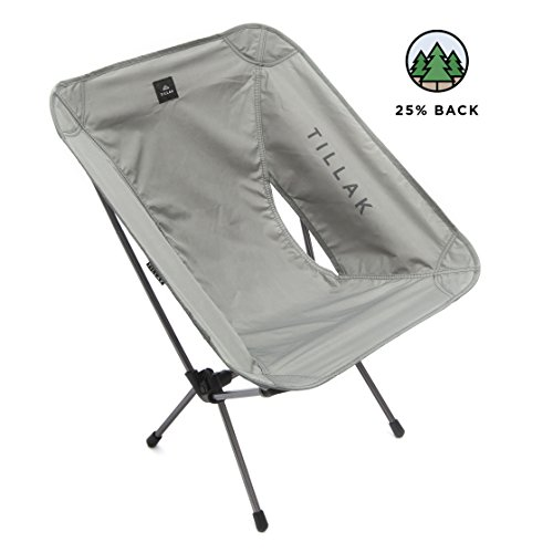 Tillak Sitka Camp Chair – An Ultralight, Portable, Compact Folding/Collapsible Chair, Perfect for Camping, Lightweight Backpacking and Beach Lounging, with Heavy Duty 300lb Capacity
