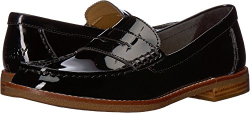 - SPERRY Women's Seaport Penny Loafer, Black Patent, 11