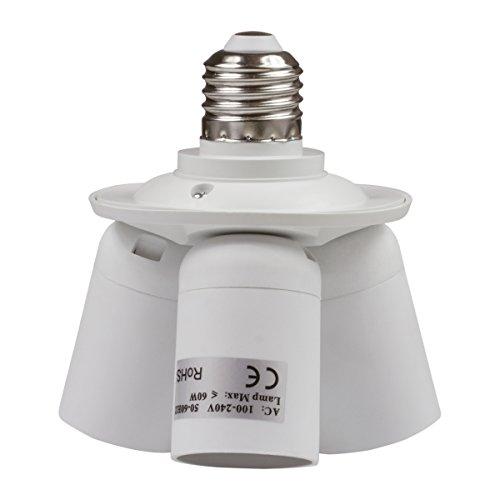 8T8 3 in 1 Light Socket Adapter Splitter, E26 E27 Lamp Holder Converter for Photo Studio Photography Home Indoor Lighting (Studio_3) by 8T8 (Image #2)