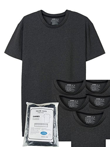 PERSUN 5 Pack Sleeve Classic T shirt