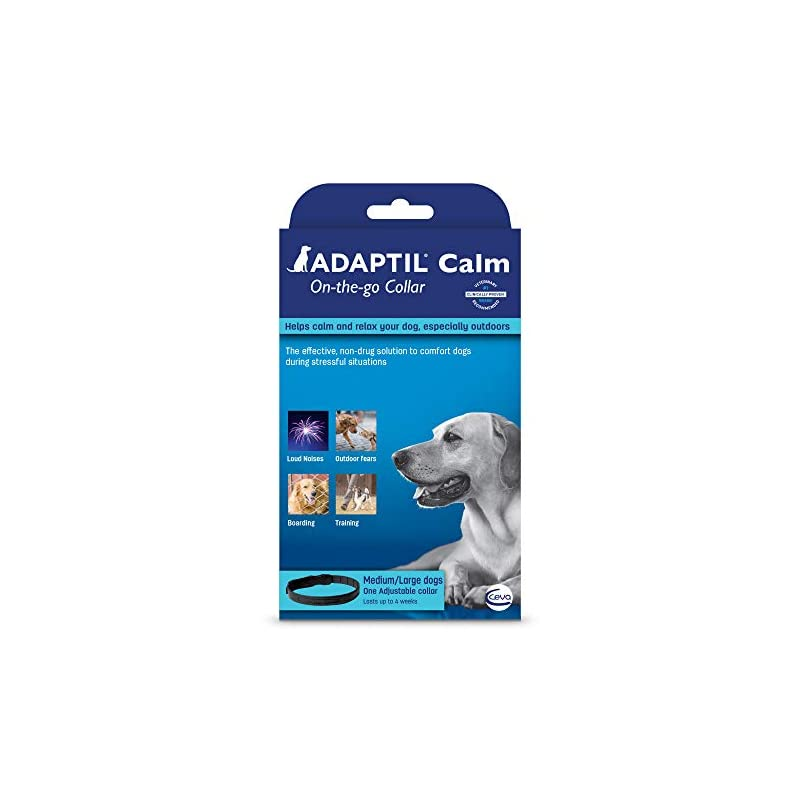 dog supplies online adaptil calm on-the-go-collar (medium/large) (packaging may vary)