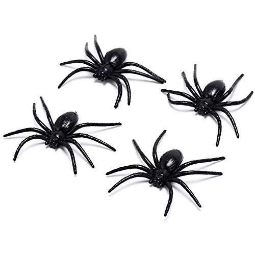 Party DIY Decorations - 4pcs Lot Party Prop Haunted Halloween Black Plastic Spider Funny Fake Spiders Toy House Decor - Party Decorations Party Decorations Halloween Cloth Hallowen Robe Mas