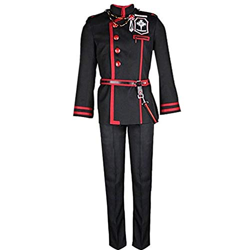 Anime Allen Walker Cosplay Costume Uniform Halloween Black]()