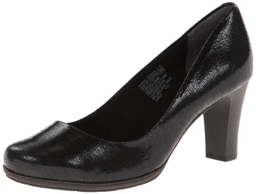 Rockport Women's Total Motion 75mm Dress Pump,Black Foil,7.5 N US Total Motion 75mm Pump