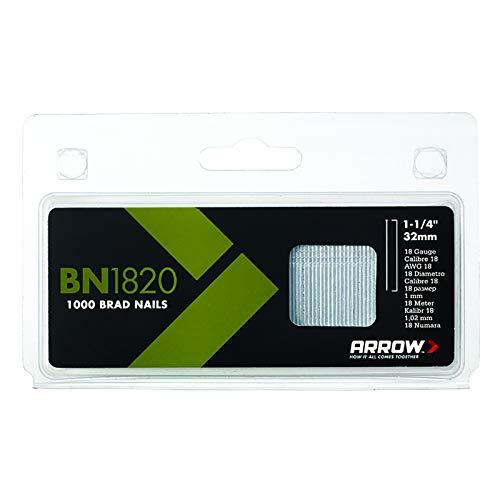 Arrow Fastener BN1820 Genuine 1-1/4-Inch, 18 Gauge Brads