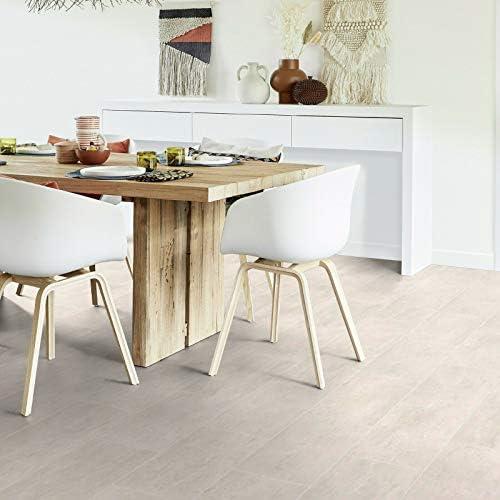 16,95 /€ p. m/² PVC Bodenbelag Fliese Melbourne Blanc mit Textilr/ücken Breite: 200 cm x L/änge: 600 cm