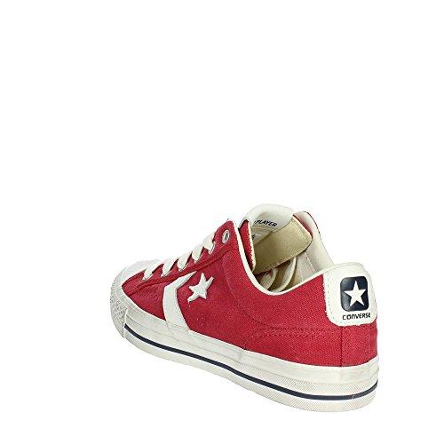 Converse Sneakers Uomo Star Player 160923C/GARNET/EGRET/NAVY, Distressed Ox,Colore Rosso in Tela, Nuova Collezione Primavera Estate 2018 Rot
