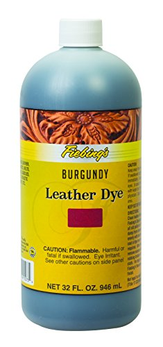 Furniture Burgundy Leather - Fiebing's FILDYE73P032Z Leather Dye - Burgundy, 32 oz