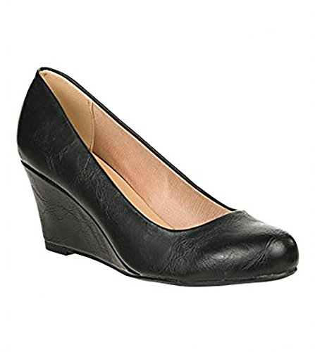 Forever Doris-22 Wedges Pumps-Shoes mve Shoes Doris 22 Black