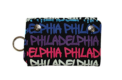 (Philadelphia Trifold Wallets (Pink, Blue & Purple))