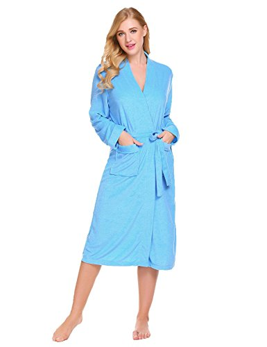 Corgy Women Robe Cotton Terry Lightweigt Belted Kimono Spa Bathrobe with Pockets by Corgy (Image #1)