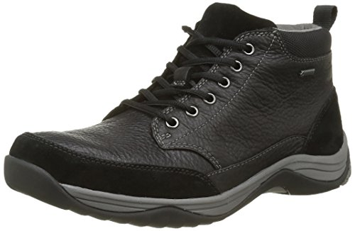 Clarks Baystonetopgtx, Stivaletti Uomo Nero (Black Leather)