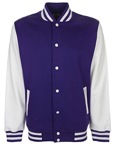 nbsp;Chaqueta Hombres de Fundamental Purple FDM White Varsity nbsp;– qS8c6c