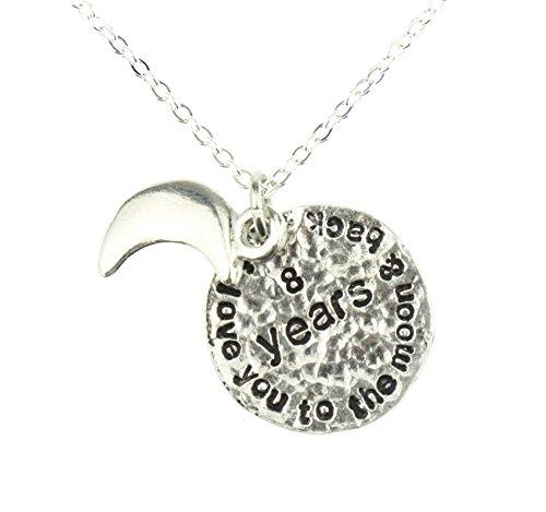 I Love You to the moon and back-Collier de 8e anniversaire de mariage-Idée cadeau unique 8e Anniersary