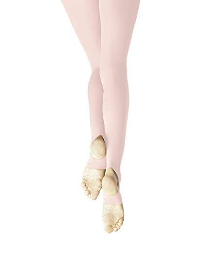 845e5b0acc70a Capezio Ultra Soft Self Knit Waistband Stirrup Tight - Size 9, Ballet Pink