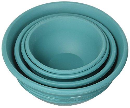 (Le Creuset FA205-17 Silicone Prep Bowls, Caribbean)