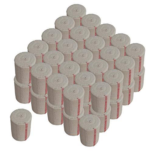 "NexSkin 3"" Cotton Elastic Bandages w/Hook and Loop Closure (Fifty Bandage Pack)"