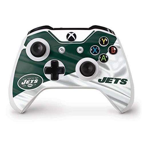(Skinit New York Jets Xbox One S Controller Skin - Officially Licensed NFL Gaming Decal - Ultra Thin, Lightweight Vinyl Decal Protection )