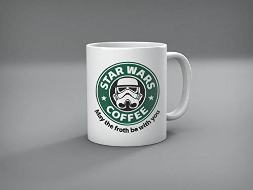 Best funny Star Wars Mug - May The Froth Be with You (Storm Trooper) - 11 ounces coffee mug - By Miracle(Tm) ...