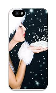 iPhone 5 5S Case Christmas Snow Powder135 3D Custom iPhone 5 5S Case Cover