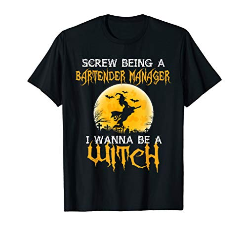 Bartender Manager Shirts Womens Halloween Costumes