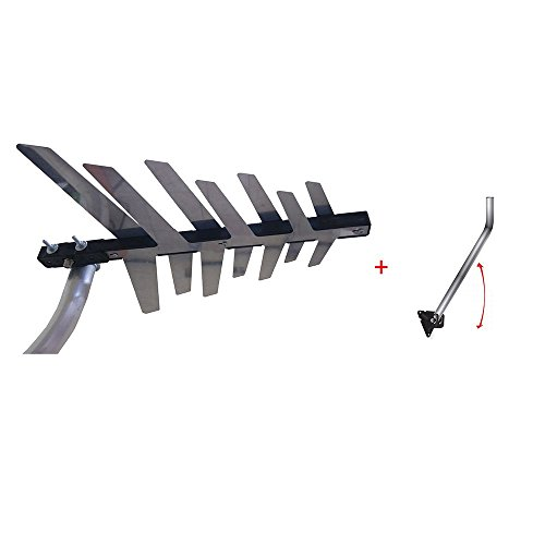 Antena Digital Externa - UHF - PHD 8000 + Suporte para Antena de Alumínio - Prime Tech-PHD