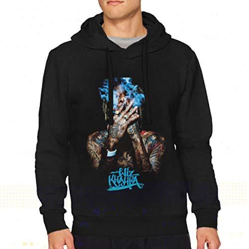 Men's Wiz Khalifa Music Band Long Sleeve Casual Hooded Fashion Hoodie S