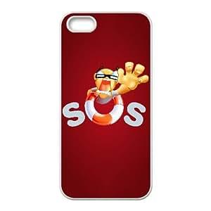 Funda iPhone 4 4s caja del teléfono celular Funda sos blanca logotipo K9A2AH