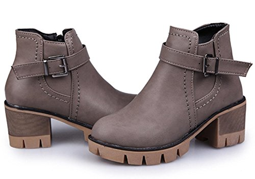 KUKI autumn and winter women boots high heels Martin boots warm female boots cheap boots , US6.5-7 / EU37 / UK4.5-5 / CN37