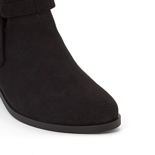 La Redoute Collections Frau Boots Cut Out mit Schleife Gre 39 Schwarz
