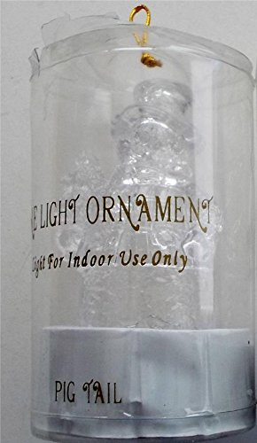 (Snowman with Tree - Clear Acrylic Snowmen Illuminated Ornament - 6