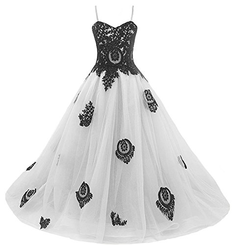 Long Gothic Black Lace Flower Girls Formal Bridesmaid Pageant Dresses Juniors Silver 6 by Kivary