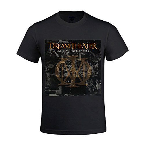 Dream Theater T-shirt Scenes (Overbearing Dream Theater Live Scenes From New York Custom gentleman O Neck T-shirts Black)