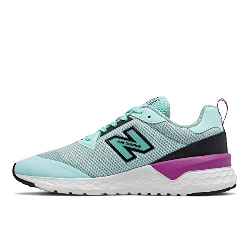 New Balance Women's Fresh Foam 515 Sport V2 Sneaker, Bali Blue/Black/Plum, 9.5 W US