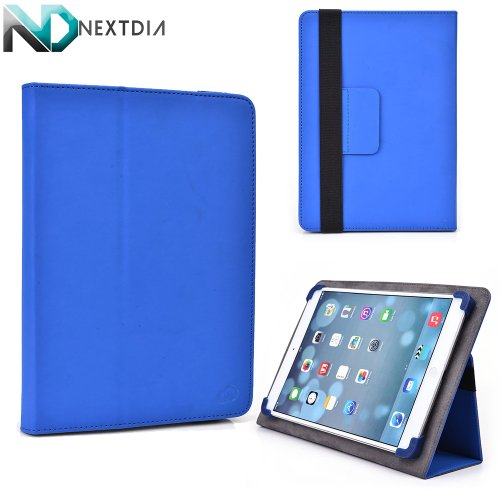 """Alcatel One Touch Tab 7 PVC Cover Case Folio Stand with Soft Grip Clips - Universal Style fits Most 8"""" Devices 