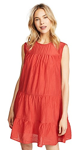 Velvet by Graham & Spencer Women's Shanelle Silk Cotton Voile Dress, Cardinal, L Silk Voile Dress