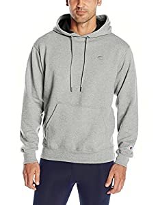 Champion Men's Powerblend Pullover Hoodie, Oxford Gray, Medium