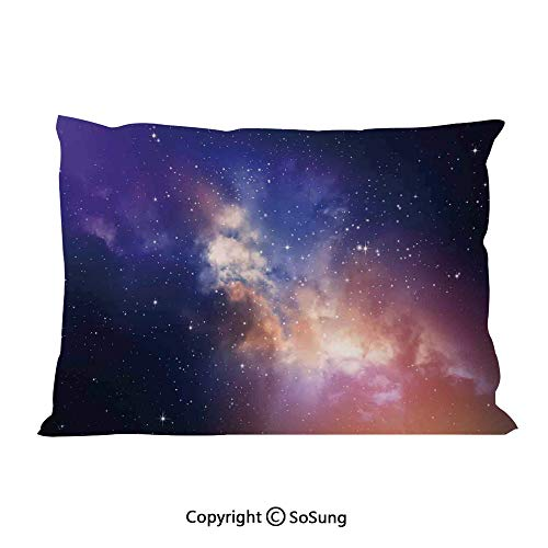 - SoSung Space Bed Pillow Case/Shams Set of 2,Stars in Sky Supernova Comet Constellation Light Years Meteor Planetary Image King Size Without Insert (2 Pack Pillowcase 36