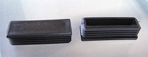 Anywhere a Finished Look is Needed 8 pk: 1'' x 3'' Rectangle Plastic Hole Plug End Cap 3x1 1''x3'' 3''x1'' Caps Inserts for Tube Pipe Box 3' Plastic End Caps