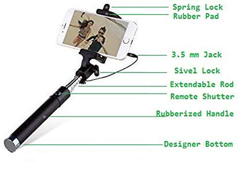 Selfie Sticks - Selfie Stick for iPhone/Samsung/Redmi/Oppo/Vivo/Xiaomi and All Mobile Phones