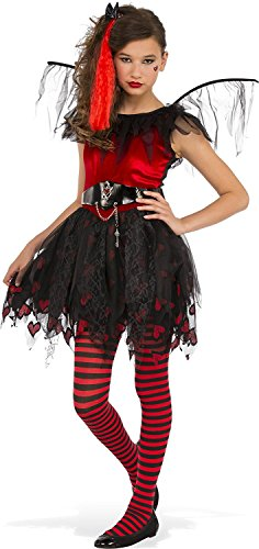 Rubies Costume Punk Cupid Teen Costume, Small, (Red Cupid Wings Costume)