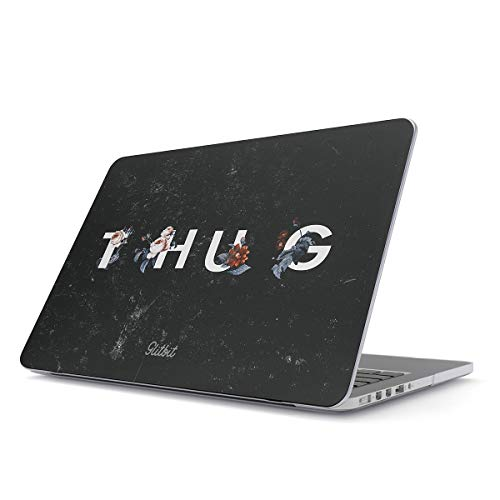 Glitbit Hard Case Cover Compatible with MacBook Pro 13 Inch Case Release 2016-2018, Model: A1989 /A1706 /A1708 with or Without Touch Bar Thug Floral Red Roses Flower Life Gangster Gangsta Girl Marble -