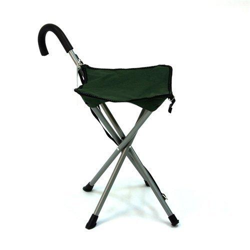 Mac Sports Folding Cane Chair Walking Stick With Stool