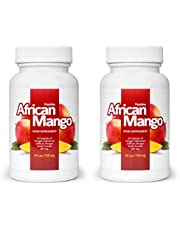 African Mango (2x) Voedingssupplement, African Mango Seed Powder (Irvingia Gabonensis), gezond gewichtsverlies en ontgifting, effectieve vetverbranding, eetlustremmer (120 capsules)